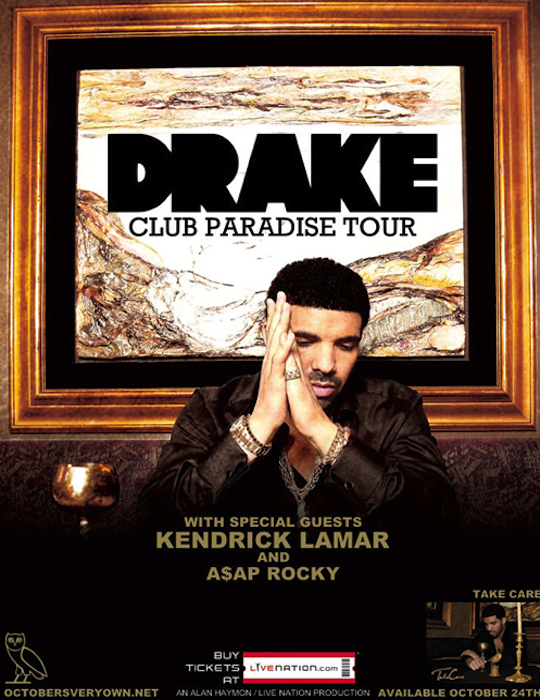 Drake ASAP Kenrick Tour The Masked Gorilla