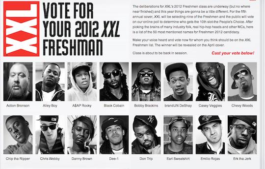 XXL Opens 2012 Freshman List To Fan Online VotingXxl Freshman 2012